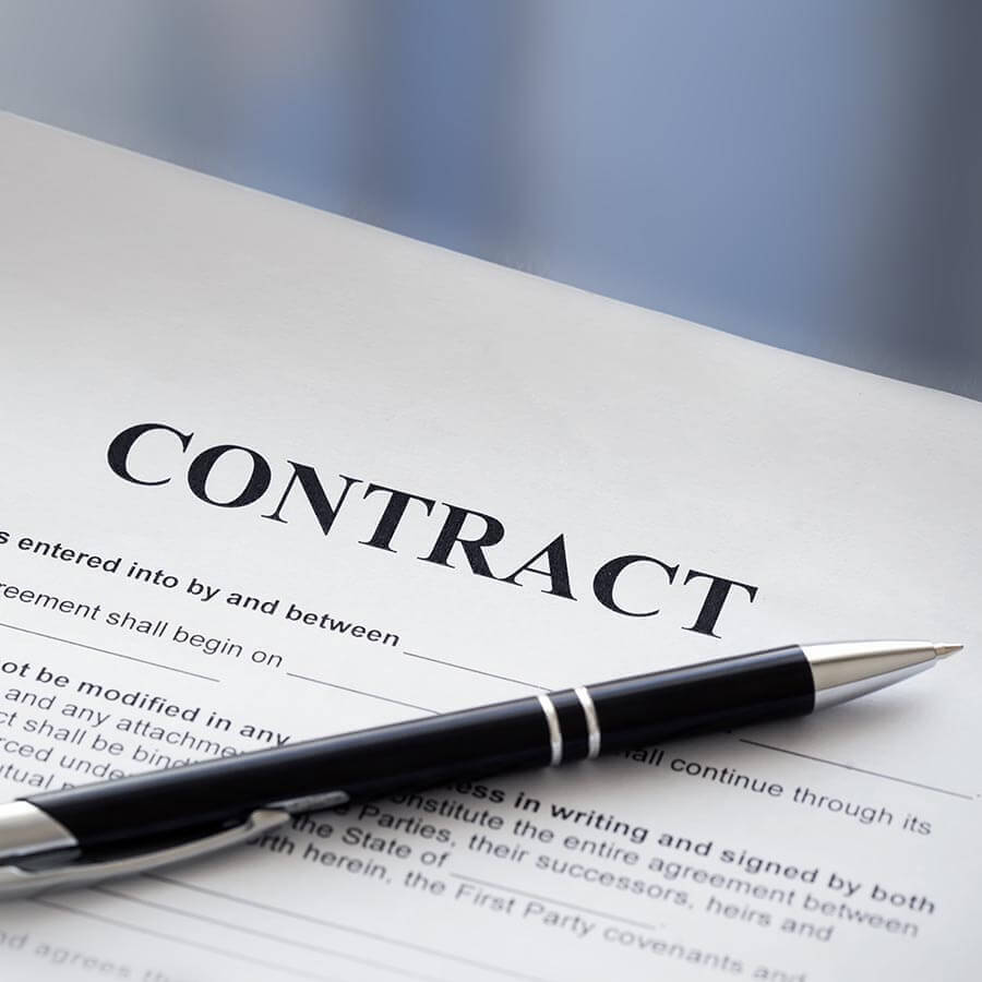 Contract paper With Pan